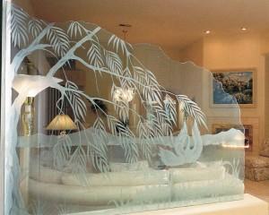 Пескоструйная обработка стекла и зеркала в Екатеринбурге
