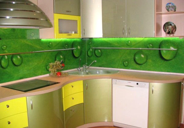 Кухонный фартук из стекла в Екатеринбурге