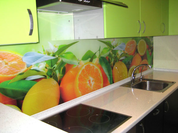 Стеклянный фартук для кухни Екатеринбург