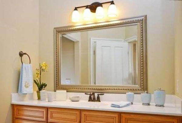 Зеркало в ванной на заказ
