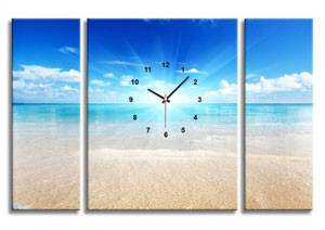 Модульная картина с часами
