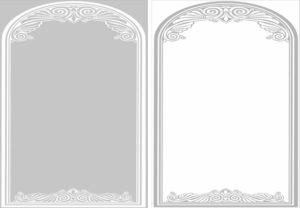 Пескоструйный рисунок - арки, рамы, уголки