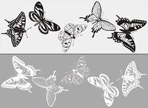 Пескоструйный рисунок бабочки