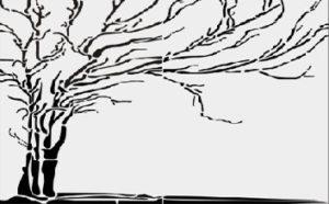 Пескоструйный рисунок дерево