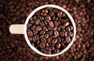 Фартуки для кухни из стекла с изображением кофе
