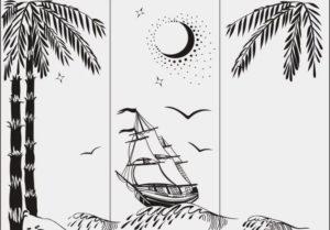 Пескоструйный рисунок морской тематики