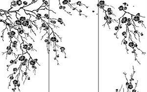 Пескоструйный рисунок - сакура