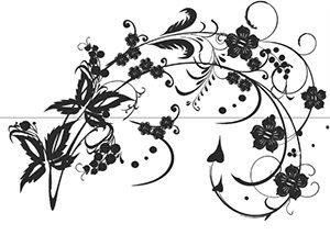 Пескоструйные рисунки - листья, цветы, узоры