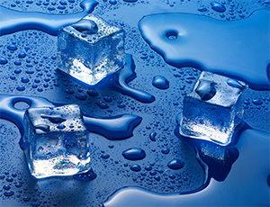 Шкафы-купе (3 двери) - вода, капли, лед